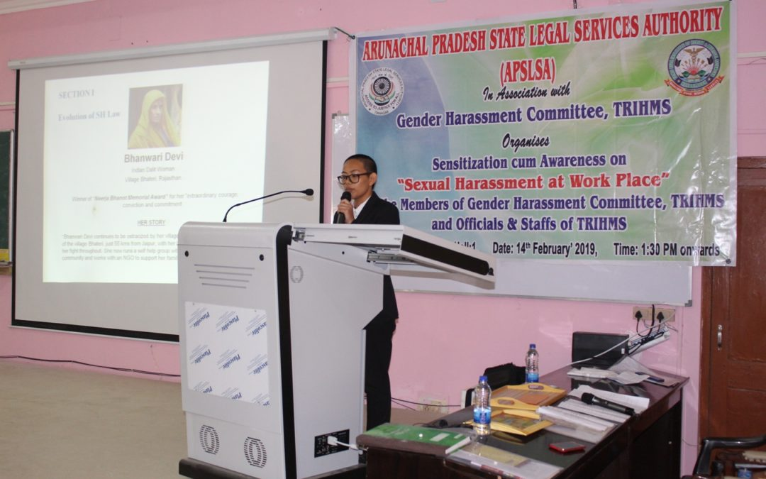 Legal Awareness Programme on Gender Harassment at THRIMS on 14 February, 2019