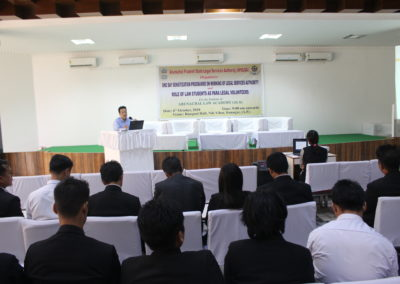 Legal Awareness Programme for Arunachal Law Academy's Students on 06.10.2019